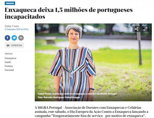 Enxaqueca deixa 1,5 milhões de portugueses incapacitados