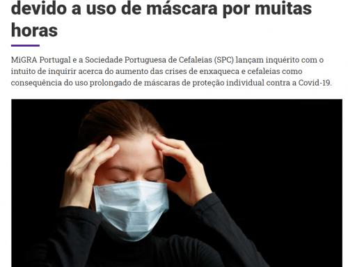 Doentes queixam-se de enxaquecas devido a uso de máscara por muitas horas